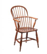 19TH CENTURY ELM WINDSOR CHAIR at Ross's Auctions