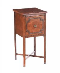 GEORGIAN MAHOGANY BEDSIDE PEDESTAL at Ross's Auctions
