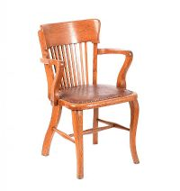 OAK DESK CHAIR at Ross's Auctions