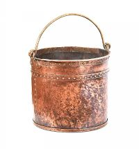 COPPER LOG BUCKET at Ross's Auctions