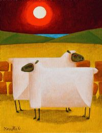 MOONLIGHT SHEEP by Graham Knuttel at Ross's Auctions