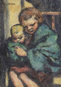 THE BABYSITTER by William Conor RHA RUA at Ross's Auctions