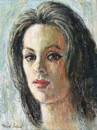 PORTRAIT STUDY by Robert Taylor  Carson RUA at Ross's Auctions