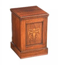 EDWARDIAN INLAID ROSEWOOD LOG BOX at Ross's Auctions