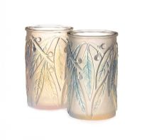 PAIR OF LALIQUE LAURIEN VASES at Ross's Auctions