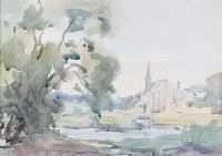 BY THE WATERS EDGE by Frank McKelvey RHA RUA at Ross's Auctions