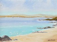 CLEGGAN BEACH, CONNEMARA by Edith Fletcher at Ross's Auctions