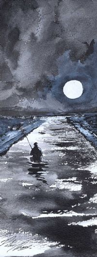 NIGHT FISHING by Peter Shaw at Ross's Auctions