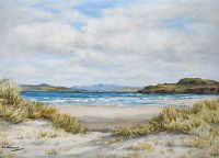 MARBLE HILL STRAND, DONEGAL by E.M. Stevenson at Ross's Auctions