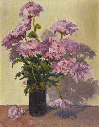 STILL LIFE, VASE OF FLOWERS by L.M. Forrest at Ross's Auctions