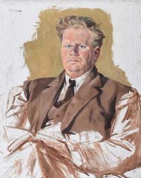PORTRAIT OF ARNOLD MARSH by Hilda Roberts HRHA at Ross's Auctions