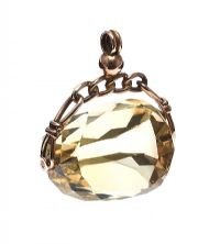 9CT GOLD CITRINE SWIVEL FOB at Ross's Jewellery Auctions