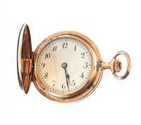 14CT GOLD LADY'S FULL HUNTER POCKET WATCH at Ross's Jewellery Auctions