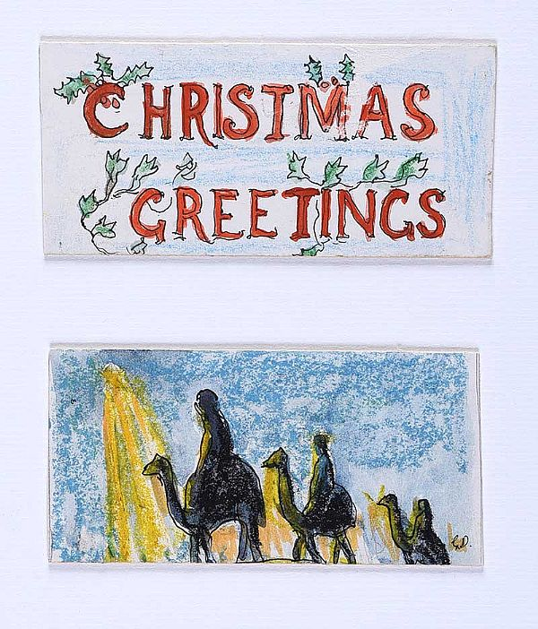 CHRISTMAS GREETINGS by Gerard Dillon at Ross's Online Art Auctions