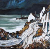 AN OLD IRISH SHORE FRONT by J.P. Rooney at Ross's Auctions
