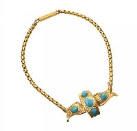 VICTORIAN 18CT GOLD TURQUOISE BRACELET