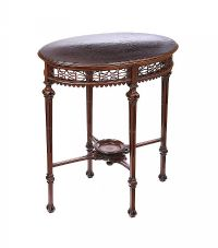 EDWARDIAN MAHOGANY OVAL LAMP TABLE at Ross's Auctions