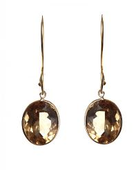 9CT GOLD CITRINE EARRINGS at Ross's Jewellery Auctions