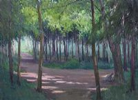 LIGHT THROUGH THE TREES by Hans Iten RUA at Ross's Auctions