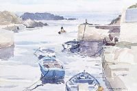 BALLINTOY HARBOUR by Garth Giffin at Ross's Auctions