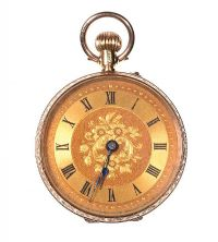 9CT GOLD LADY'S FOB WATCH at Ross's Jewellery Auctions