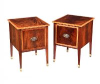 PAIR OF EDWARDIAN MAHOGANY BEDSIDE PEDESTALS at Ross's Auctions