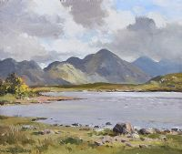 KYLEMORE LOUGH, CONNEMARA by Maurice Canning  Wilks ARHA RUA at Ross's Auctions