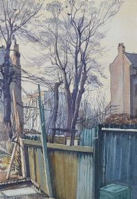 NOVEMBER IN THE SUBURBS by Dorothy Blackham RUA at Ross's Auctions