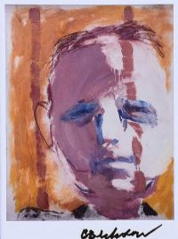 TRAVELLER'S HEAD I by Basil Blackshaw HRHA HRUA at Ross's Auctions