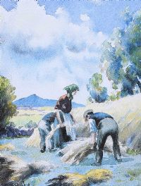 WORKING IN THE GLENS by Charles McAuley at Ross's Auctions