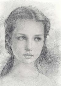 PORTRAIT OF A YOUNG GIRL by Ken Hamilton at Ross's Auctions