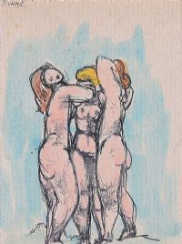 THREE STANDING NUDES by Daniel O'Neill at Ross's Auctions