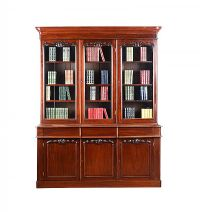 VICTORIAN MAHOGANY BOOKCASE at Ross's Auctions