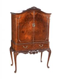 WALNUT COCKTAIL CABINET at Ross's Auctions