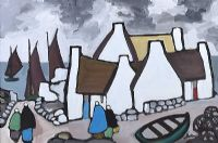 AN IRISH FISHING VILLAGE by Markey Robinson at Ross's Auctions