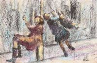 THE LAMP POST SWING by William Conor RHA RUA at Ross's Auctions