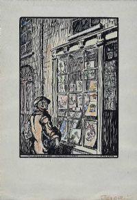 THE TATTOOER'S SHOP ON THE QUAYS OF DUBLIN by Jack Butler Yeats RHA at Ross's Auctions