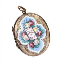 VICTORIAN GOLD LOCKET at Ross's Auctions
