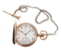 WALTHAM GOLD-PLATED POCKET WATCH AND CHAIN at Ross's Jewellery Auctions