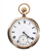 ELGIN GOLD-PLATED FOB WATCH at Ross's Jewellery Auctions