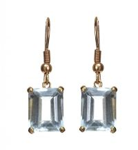 9CT GOLD AQUAMARINE EARRINGS at Ross's Jewellery Auctions