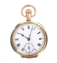 14CT GOLD-PLATED POCKET WATCH at Ross's Jewellery Auctions