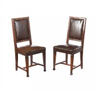 PAIR OF OAK SIDE CHAIRS at Ross's Auctions