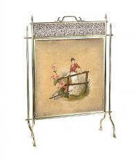 EDWARDIAN BRASS FIRESCREEN at Ross's Auctions