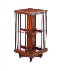 EDWARDIAN INLAID REVOLVING BOOKCASE at Ross's Auctions