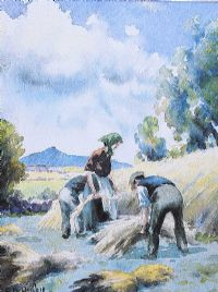 COLLECTING HAY by Charles McAuley at Ross's Auctions