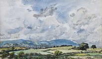 VIEW OVER THE LANDSCAPE TOWARDS BELFAST by Estyn Evans at Ross's Auctions