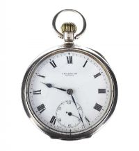 STERLING SILVER POCKET WATCH WITH OMEGA MOVEMENT at Ross's Jewellery Auctions