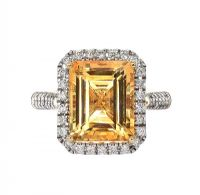 9CT GOLD CITRINE AND DIAMOND RING at Ross's Jewellery Auctions