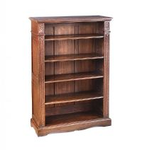 OAK OPEN BOOKCASE at Ross's Auctions